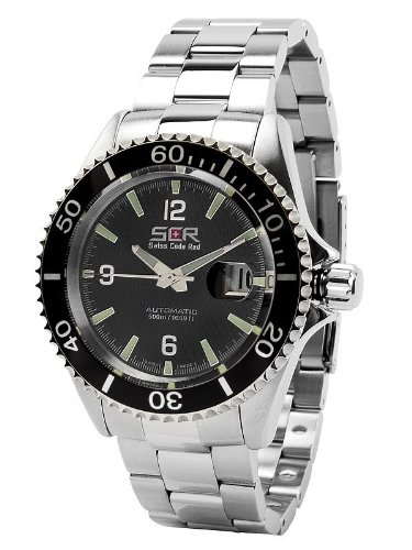 Swiss Code Red Dive Carrier Black Carbon Automatic Watch for Him Swiss Made