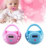 Baby Pacifier Thermometer,IPRO Digital Newborn Infant Soft Silicon Mouth Nipple Soother Healthy Safe Electronic Waterproof Temperature Check Meter LCD Display (Pink)
