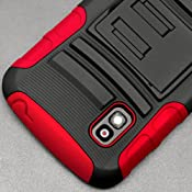Amazon.com: Black & Red Advanced Armor Case Holster Combo Rubberized Hard Cover for LG Nexus 4 Google + Lovelykaren Premium Clear Film Screen Protector Armor: Cell Phones & Accessories