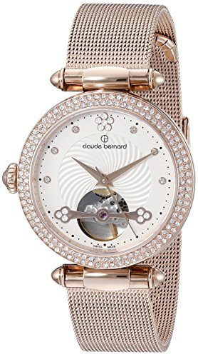 Claude-Bernard-Womens-85023-37RPM-APR-Dress-Code-Rose-Gold-Tone-Automatic-Watch-with-Swarovski-Crystals