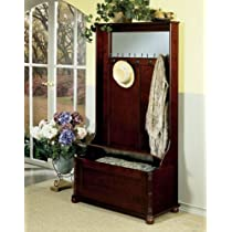 Powell Furniture Heirloom Cherry Hall Tree with Storage Bench