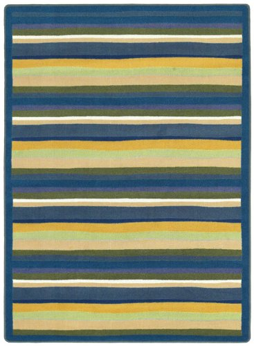"Joy Carpets Kid Essentials Active Play & Juvenile Yipes Stripes Rug, Bold, 5'4"" x 7'8"""