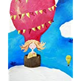 Cici Art Factory Wall Art, Up Up And Away Paper Print, Small