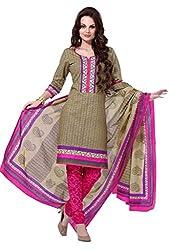 HIFI Ethnicwear Women's Dress Material(HIFI 3203_Grey_Free Size)