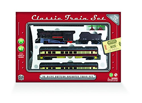 WowToyz Classic Train Set with Carry Case - Steam Engine with Passenger Car (Large Steam Engine compare prices)