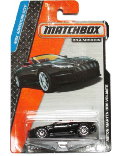 Matchbox on a Mission - MBX Adventure City 4/120 - Aston Martin DBS Volante (Black)