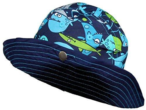 Baby Aussie Sun Hat Sharks ~ UPF 50+ Sun Protection (Infant 6-18 Months) (Baby Boy Hat Sun Protection compare prices)