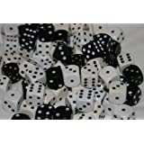30 Dice, 16mm, Black and Whiteby Unbeatable Games