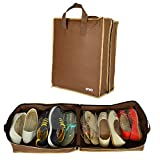 Krio Designs Rich Brown Shoe Bag((Stores 6 Pairs Of Sports Shoes)