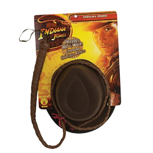 Indiana Jones and the Kingdom of the Crystal Skull Adult Hat and Whip Set,Brown, One Size - 1
