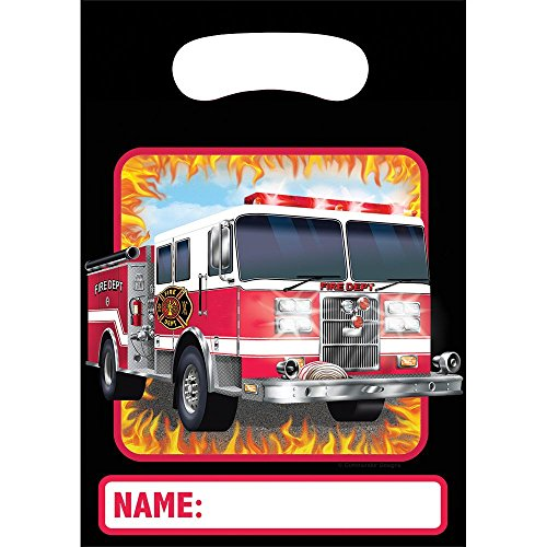 Creative Converting BB085556 Fire Watch Plastic Loot Favor Bags -8 Pack