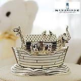 Irish Newbridge Silver Noahs Ark Music Box