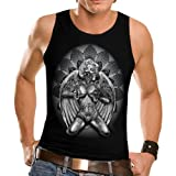Wellcoda Marilyn Monroe Angel Biker Gun Mens Sleeveless T-Shirt NEW Top Tank 100% Cotton Vest S-2XL Size
