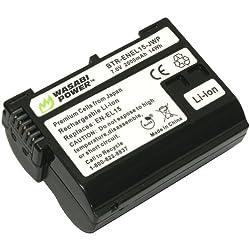 Wasabi Power Battery for Nikon EN-EL15 and Nikon 1 V1 D600 D800 D800E D7000 (FULLY DECODED!)