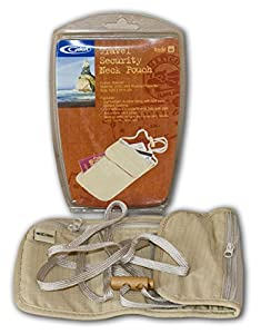 Gelert Travel Neck Pouch - Natural