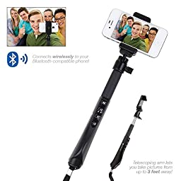 Satechi® Bluetooth Smart Selfie Extension Arm Monopod Telescoping Mount for iPhone 6 Plus, 6, 5S, 5C, 5, 4S, 4 and Samsung Galaxy S6, S5, S4, S3, Note 2, Note 3