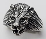 A Spectacular Sterling Silver Lion Head Ring Made in America