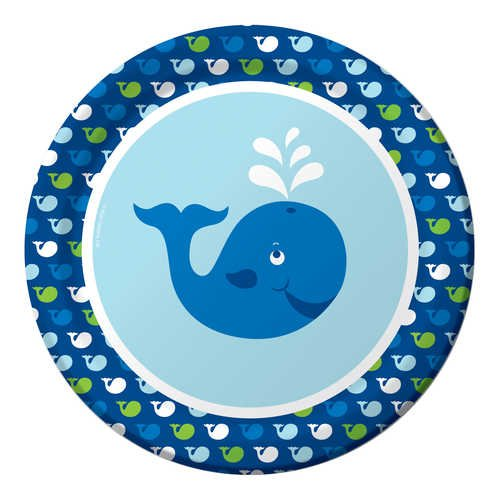 Creative Converting Ocean Preppy Boy Round Dinner Plates, 8-Count