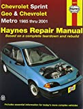 img - for Haynes Manuals 24075 Chev Sprint Geo Metro 85-01 book / textbook / text book