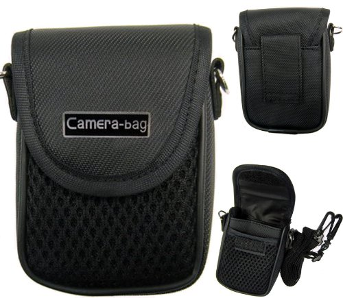 LUPO Universal Compact Digital Camera Case Bag (Internal Size: 100 x 65 x 35mm) - BLACK
