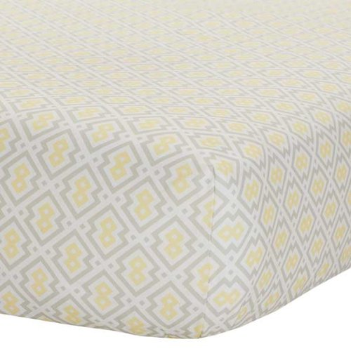 Safe Sleep Yellow & Grey Fitted Sheet