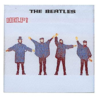 the beatles help album cover patch clothing. Black Bedroom Furniture Sets. Home Design Ideas