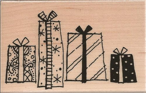 Package Quartet Wood Mounted Rubber Stamp (M168)
