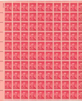 Theodore Roosevelt Sheet of 100 x 6 Cent US Postage Stamps NEW