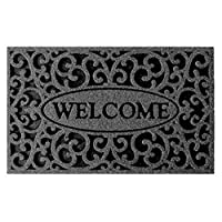 Apache Mills 60-963-1703 Welcome Iron Graphite Door Mat, 18-Inch by 30-Inch