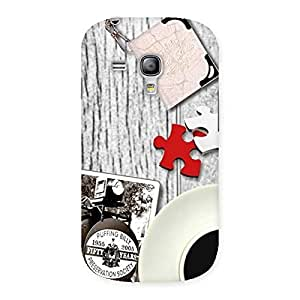 Ajay Enterprises train and watch Back Case Cover for Galaxy S3 Mini