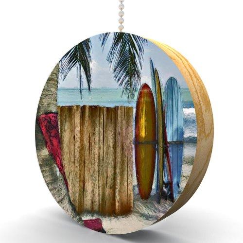 Surfboard Beach Hardwood Oak Fan / Light Pull