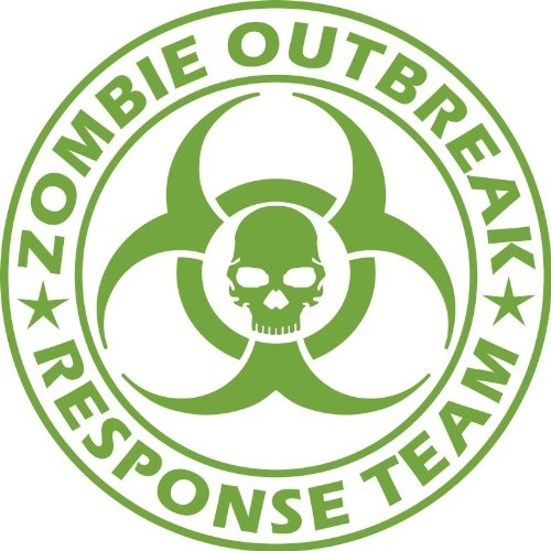 Zombie Outbreak Response Team NEW DESIGN Die Cut Vinyl Decal Sticker 5 Lime