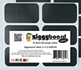 Ziggyboard Chalkboard Labels Refill Kit 2x3.5 Inches 42 Rectangle Shape Stickers