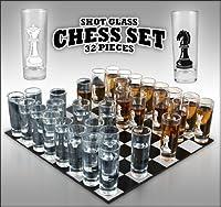 32-piece Chess Shot Glass Set - 2 Ounce
