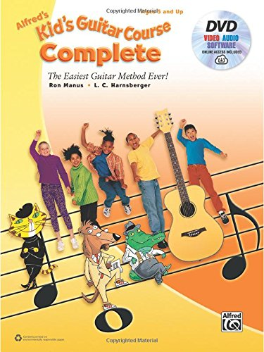alfreds-kids-guitar-course-complete-dvd-and-online-audio-the-easiest-guitar-method-ever-guitare-alfr