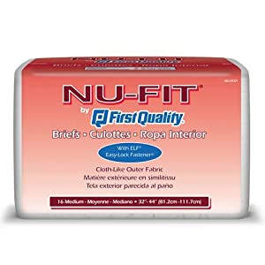 Nu-Fit Adult Diapers - Medium 96/cs by First Quality