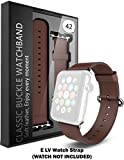 #6: ELV Apple Watch 42MM - Strap Band High Quality Premium Strap Band Accessories (BROWN)