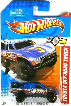 Hot Wheels 2012 Thrill Racers - Earthquake Toyota Off Road Truck Blue #222/247 - 1