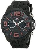 U.S. Polo Assn. Sport Men's US9117  Black Silicone Analog Digital Watch