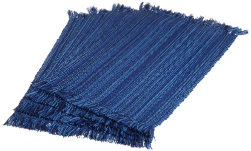DII Anchors Away Nautical Fringed Placemat/Kitchen Mats, Blue, Set of 4
