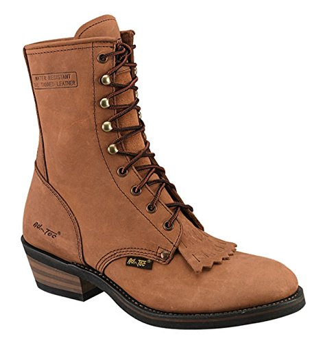 15337da098270 AdTec Mens Tan 9in Packer Work Boots Leather Lacer 8 M Review ...