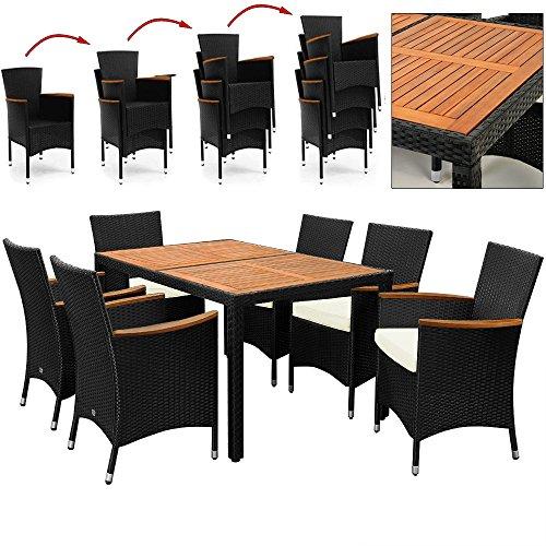 Rattan-Sitzgruppe-mit-Holztisch-und-Holz-Armlehnen-Sthle-Stapelbar