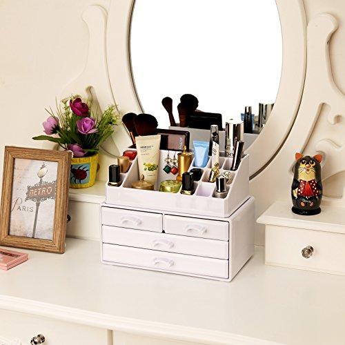 Songmics cosmetic organizer scatola organizzatore makeup for Regalo cassettiera