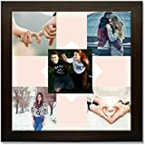 Clixicle **Free Customization** Best Friends Forever - This Is Love Photo Collage Poster With Brown Frame, 12...