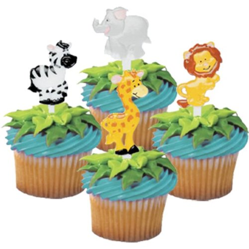 Buy Cheap Zoo Animal Cupcake Picks - 24 ct
