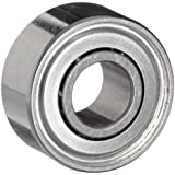 Dynaroll Precision Miniature Ball Bearing, ABEC-5, Double Shielded, Stainless Steel