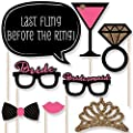 Konsait Bachelorette Party Supplies Photo Booth Props for Wedding,Girls Night Out Games Bachelorette Party Favors Dress Up Accessories for Wedding (20 Count)