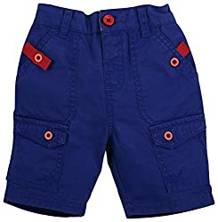 Shorts With 6 Pockets - Blue (0-6 M)