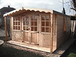 14x14 summer house log cabin garden outdoors for 14x14 cabin plans