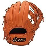 asics(アシックス) 野球 ジュニア軟式用グローブ(オールラウンド用) ダイブ BGJ6BS Fオレンジ LH
